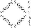 ひし形 アンティーク フレーム モダン レトロ ビンテージ 枠 テキストスペース イラスト 61392626