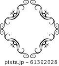 ひし形 アンティーク フレーム モダン レトロ ビンテージ 枠 テキストスペース イラスト 61392628