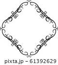 ひし形 アンティーク フレーム モダン レトロ ビンテージ 枠 テキストスペース イラスト 61392629