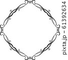 ひし形 アンティーク フレーム モダン レトロ ビンテージ 枠 テキストスペース イラスト 61392634
