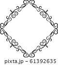 ひし形 アンティーク フレーム モダン レトロ ビンテージ 枠 テキストスペース イラスト 61392635