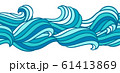 Seamless wave pattern. Background with sea, river or water texture. 61413869
