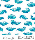 Seamless wave pattern. Background with sea, river or water texture. 61413871
