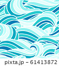 Seamless wave pattern. Background with sea, river or water texture. 61413872