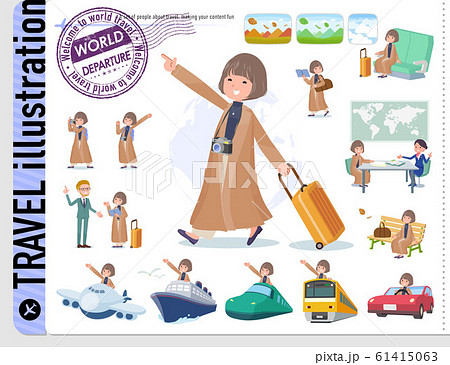 flat type big size coat women_travel 61415063