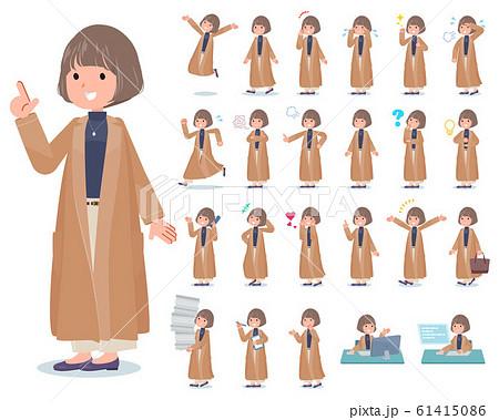 flat type big size coat women_emotion 61415086