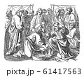 Vintage Drawing of Biblical Story of Jesus Washes His Disciples Feet.Bible, New Testament, John 13 61417563