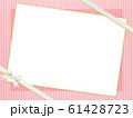 背景-ピンク-ストライプ-リボン-フレーム 61428723