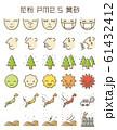 花粉症・黄砂・PM2.5 飛散レベル アイコンセット 61432412
