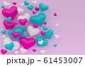 3d rendering illustartion of color heart on pink background 61453007