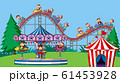 Background scene with happy monkeys riding rides 61453928
