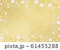 桜-フレーム-角丸-サークル-さくら-金箔-ゴールド 61455288
