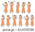女性4 表情セットA 61459586