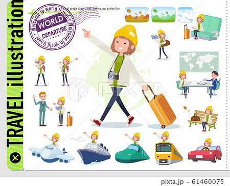 flat type knit cap blouson women_travel 61460075