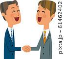 ビジネスマン同士の握手 61462402