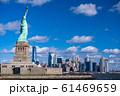 《ニューヨーク》自由の女神と摩天楼 61469659