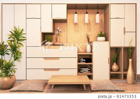 Design Cabinet shelf wooden japanese style 61473353