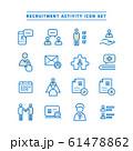 RECRUITMENT ACTIVITY ICON SET 61478862