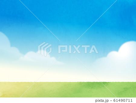 青空と芝生 61490711