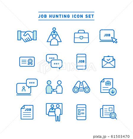 JOB HUNTING ICON SET 61503470