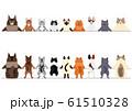 笑顔の猫のボーダー  前後 61510328