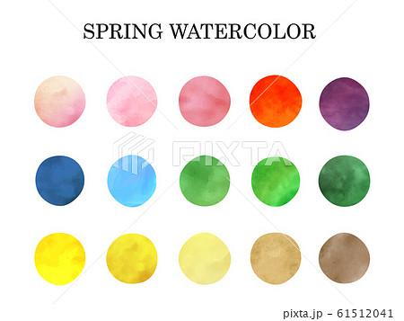 スプリングカラー水彩テクスチャー 61512041