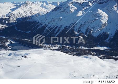 サンモリッツの雪山 61518852