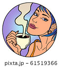 Woman with a cup of morning coffee or tea 61519366