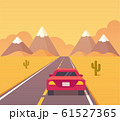 Desert highway illustration 61527365