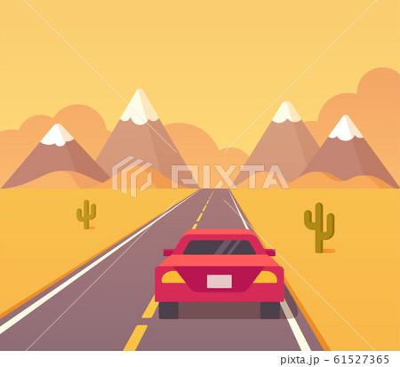 Desert highway illustration 61527365