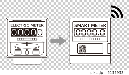 Electricity meter smart meter introduction icon illustration vector 61539524