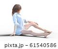 スリムな女性 シャツ perming3adcg イラスト素材 61540586