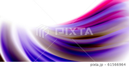 Silk smooth lines on white, liquid fluid color waves. Vector Illustrations For Wallpaper, Banner, Background, Card, Book, Illustration, landing page, cover, placard, poster, banner, flyer, design 61566964