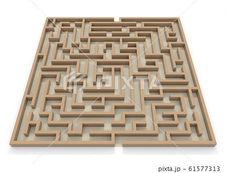 四角形の迷路。巨大な迷路。3Dレンダリング。3Dイラスト 61577313