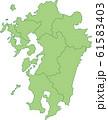 九州地方の地図 61583403