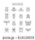 INSECT ICON SET 61610659