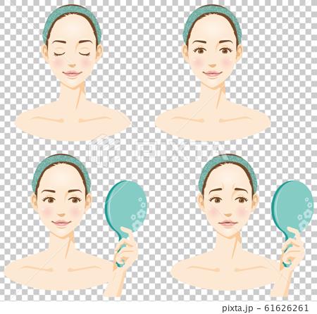 女性面部圖像插圖集(美容) 61626261