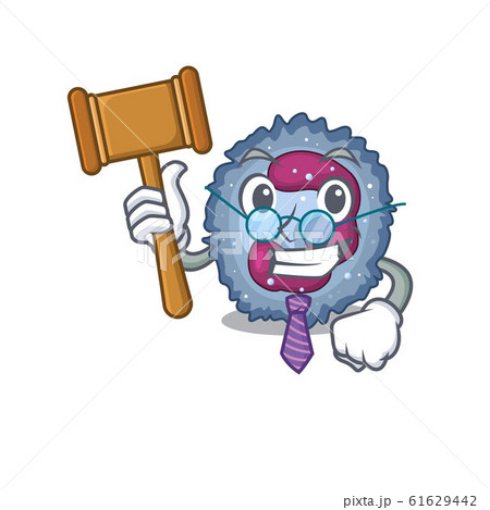 Smart Judge neutrophil cell in mascot cartoon character style 61629442