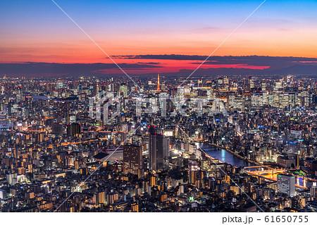 《東京都》東京都市夜景・都心全景 61650755