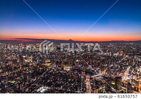 《東京都》東京都市夜景・都心全景 61650757