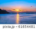 大船渡湾の朝焼け 【岩手県】 61654481