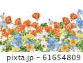春の花壇水彩画 61654809