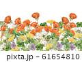 春の花壇水彩画 61654810