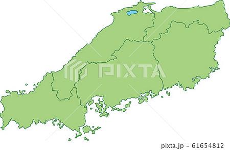 中国地方の地図 61654812