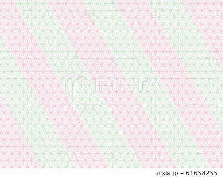 和柄パターン ピンク テクスチャー 61658255