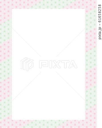 和柄パターン ピンク メッセージカード 61658258