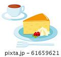 チーズケーキ ケーキ 皿 コーヒー 61659621
