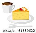 チーズケーキ ケーキ 皿 コーヒー 61659622