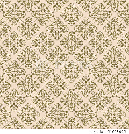 Beautiful gold abstract seamless pattern. Vintage, paisley elements. 61663006