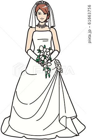 ウェディングドレスを着た女性 61663756